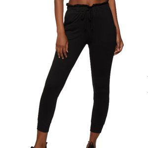 Ambiance Women French Terry Paper Bag Waist Jogger
